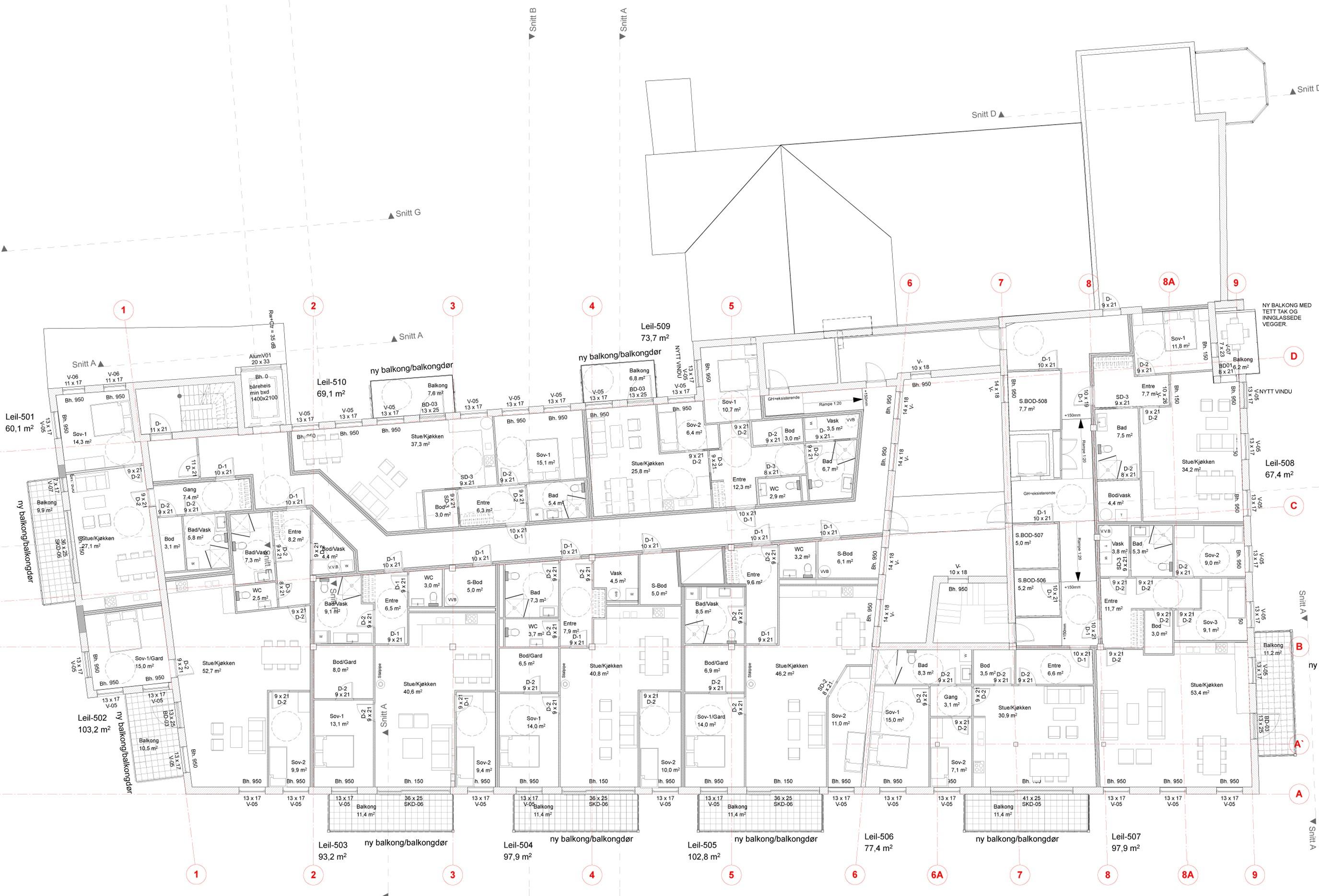 Plan 5. etasje